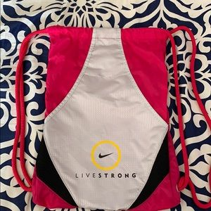 NIKE Livestrong Cinchpack/backpack